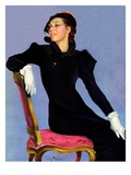 """Woman in Black,""April 14, 1934 Giclee Print by Penrhyn Stanlaws"