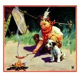 """Weiner Roast,""May 1, 1934 Giclee Print by Henry Hintermeister"