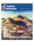 """Sheep Farm,"" Country Gentleman Cover, May 1, 1942 Giclee Print by Jean L. Huens"