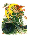 """Mermaid,""August 4, 1928 Giclee Print by Elbert Mcgran Jackson"