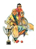 """Tennis Champs,""August 22, 1931 Giclee Print by Alan Foster"