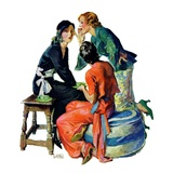 """Gossiping,""December 5, 1931 Giclee Print by John LaGatta"