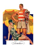 """Summertime, 1927,""August 27, 1927 Giclee Print by Joseph Christian Leyendecker"