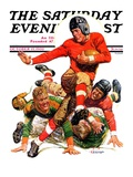 """College Football,"" Saturday Evening Post Cover, October 15, 1932 Giclee Print by J.F. Kernan"