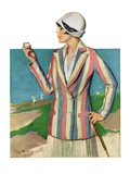 """Woman in Sandtrap,""June 9, 1928 Giclee Print by Penrhyn Stanlaws"