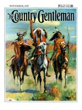 """Indians on Horseback,"" Country Gentleman Cover, November 1, 1929 Giclee Print by Paul Strayer"