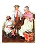 """Mending His Jacket,""October 17, 1931 Giclee Print by Ellen Pyle"