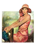"""Pretty in Pink,""August 2, 1930 Giclee Print by Ellen Pyle"