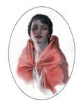"""Woman in Shawl,""June 16, 1923 Giclee Print by Rolf Armstrong"