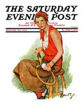 """Woman Tennis Player,"" Saturday Evening Post Cover, August 20, 1932 Giclee Print by Ellen Pyle"
