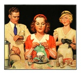 """Lunch Counter Wait,""August 1, 1934 Giclee Print by Ralph P. Coleman"