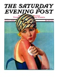 """Sunburned Sunbather,"" Saturday Evening Post Cover, July 6, 1929 Giclee Print by Penrhyn Stanlaws"