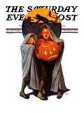 """Halloween Scare,"" Saturday Evening Post Cover, November 2, 1935 Giclee Print by Frederic Stanley"