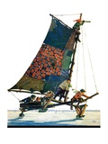 """Iceboat,""February 4, 1928 Giclee Print by Eugene Iverd"