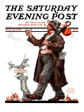 """Hitchhiking to Florida,"" Saturday Evening Post Cover, October 24, 1925 Reproduction procédé giclée par Edgar Franklin Wittmack"