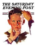 """Combing His Hair,"" Saturday Evening Post Cover, July 9, 1938 Giclee Print by Douglas Crockwell"