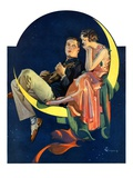 """Crescent Moon Couple,""June 14, 1930 Giclee Print by Elbert Mcgran Jackson"