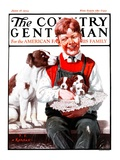"""""""Hat Full of Puppies,"""" Country Gentleman Cover, June 16, 1923 Giclee Print by J.F. Kernan"""