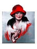 """Woman in Red Hat,""March 3, 1923 Giclee Print by Neysa Mcmein"