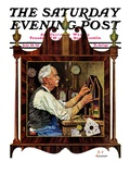 &quot;Clockmaker,&quot; Saturday Evening Post Cover, July 18, 1931 Giclee Print by J.F. Kernan