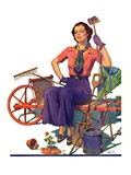 &quot;Geranium Gardener,&quot;May 1, 1937 Giclee Print by W.D. Stevens