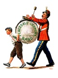 &quot;Peacedale Corners Band,&quot;October 20, 1928 Reproduction proc&#233;d&#233; gicl&#233;e par Alan Foster