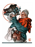 """Christmas Boar,""December 20, 1924 Giclee Print by Joseph Christian Leyendecker"