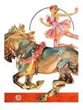 """Circus Bareback Rider,""May 14, 1932 Giclee Print by Joseph Christian Leyendecker"