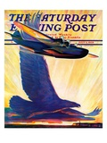 """Foreshadowing Flight,"" Saturday Evening Post Cover, July 2, 1938 Giclee Print by William Heaslip"