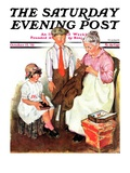 """Mending His Jacket,"" Saturday Evening Post Cover, October 17, 1931 Giclee Print by Ellen Pyle"