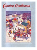 """Christmas in Town,"" Country Gentleman Cover, December 1, 1940 Giclee Print by Henry Soulen"