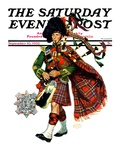 """Bagpipes,"" Saturday Evening Post Cover, September 10, 1932 Giclee Print by Edgar Franklin Wittmack"