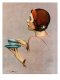 """Cup of Java,""April 30, 1932 Giclee Print by Penrhyn Stanlaws"