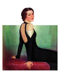 """Svelte in Black,""October 13, 1934 Giclee Print by Charles W. Dennis"