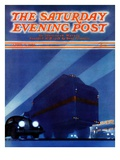 """Highway Diner,"" Saturday Evening Post Cover, April 9, 1938 Giclee Print by Ski Weld"