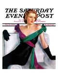 """Evening Gown,"" Saturday Evening Post Cover, May 21, 1938 Giclee Print by Neysa Mcmein"