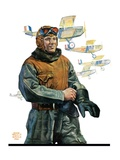 &quot;Biplane Pilot,&quot;October 9, 1926 Giclee Print by Edgar Franklin Wittmack