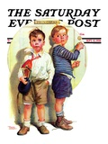 """""""School Fight,"""" Saturday Evening Post Cover, September 12, 1936 Giclee Print by Frances Tipton Hunter"""