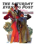 """Taxi!,"" Saturday Evening Post Cover, February 27, 1932 Giclee Print by John LaGatta"