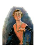 """Woman Wearing Beaded Necklace,""February 26, 1927 Giclee Print by William Haskell Coffin"