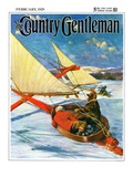 """Ice Boating,"" Country Gentleman Cover, February 1, 1929 Giclee Print by Anton Otto Fischer"