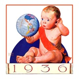 """Baby New Year 1936,""January 1, 1936 Giclee Print by William Meade Prince"