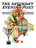 """Tennis Champs,"" Saturday Evening Post Cover, August 22, 1931 Giclee Print by Alan Foster"