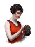 """Hole in Bathing Cap,""August 4, 1923 Giclee Print by Charles A. MacLellan"