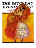 """Female Flamenco Dancer,"" Saturday Evening Post Cover, May 21, 1932 Giclee Print by Henry Soulen"