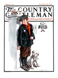 """Playing Detective,"" Country Gentleman Cover, March 3, 1923 Giclee Print by Angus MacDonall"