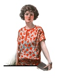 """Woman in Floral Print,""January 27, 1923 Giclee Print by Charles A. MacLellan"