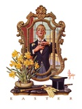 """Primping in Mirror,""April 11, 1936 Giclee Print by Joseph Christian Leyendecker"