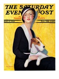 """Woman and Airedale,"" Saturday Evening Post Cover, May 13, 1933 Giclee Print by Charles W. Dennis"