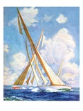 """Sailboat Regatta,""September 8, 1934 Giclee Print by Anton Otto Fischer"